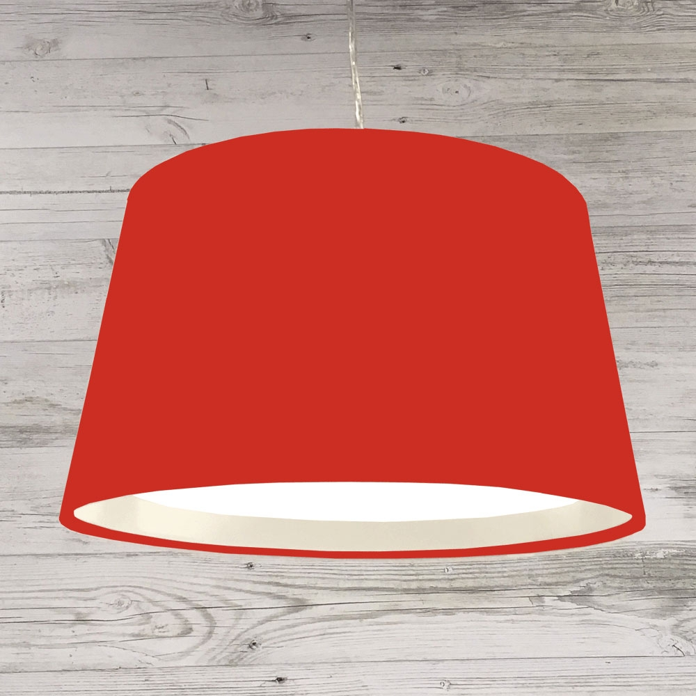 XL French Drum Pendant W.Red